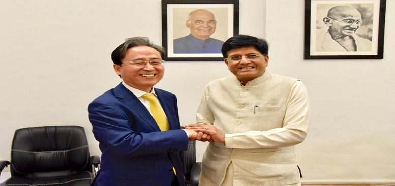 Commerce and Industry Minister met with Ambassador of Korea in India, Mr. Shin Bong-kil in New Delhi on 19.07.2019.