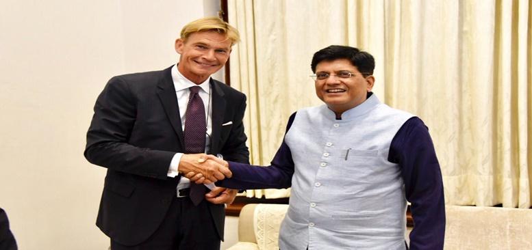 Klas Molin, Sweden's Ambassador to India, met CIM in New Delhi on 29 July, 2019.