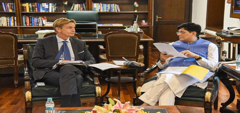Commerce and Industry Minister met Klas Molin, Sweden's Ambassador to India on 16.10.2019 at New Delhi.