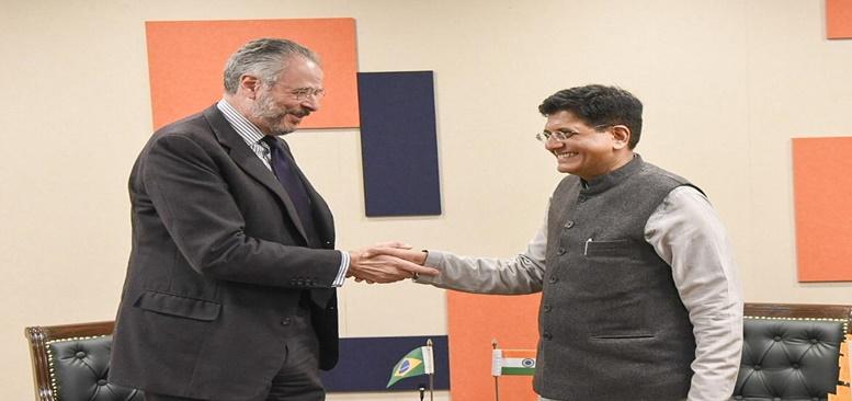 Commerce & Industry Minister met with Mr. Andra Aranha Correa do Lago, Ambassador of Brazil in New Delhi on 17.12.19