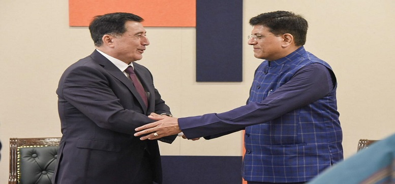 Commerce and Industry Minister met Mr. Vladimir Norov, Secretary General of the Shanghai Cooperation Organisation in New Delhi on 13.01.2020